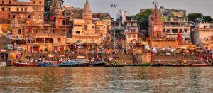 Beatiful view varanasi ghat